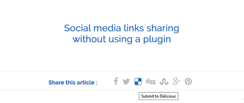 Social media sharing without a plugin